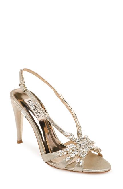 Platino Jacqueline II Crystal Embellished Sling Back Heel Front