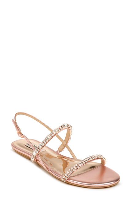 Rose Zandra Embellished Strappy Sandal Front