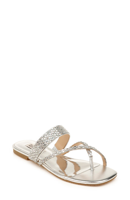 Silver Zelah Beaded Strappy Sandal Front
