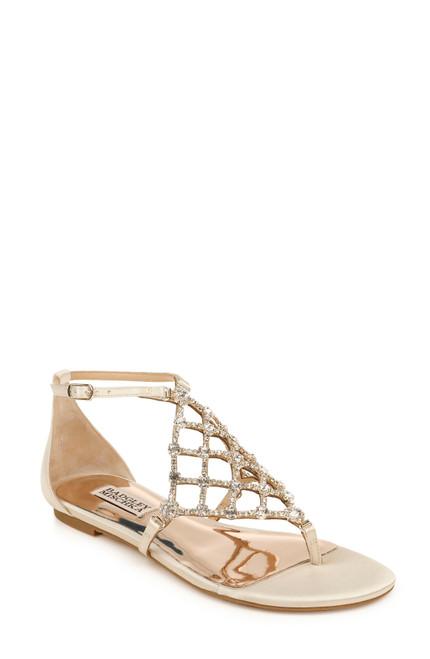 Ivory Zoanne Embellished Ankle Strap Sandal Front