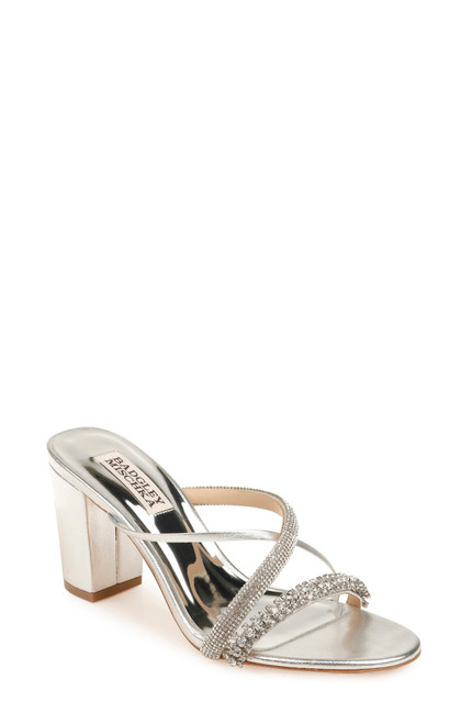 Silver Zoraya Block Heel Sandal Front