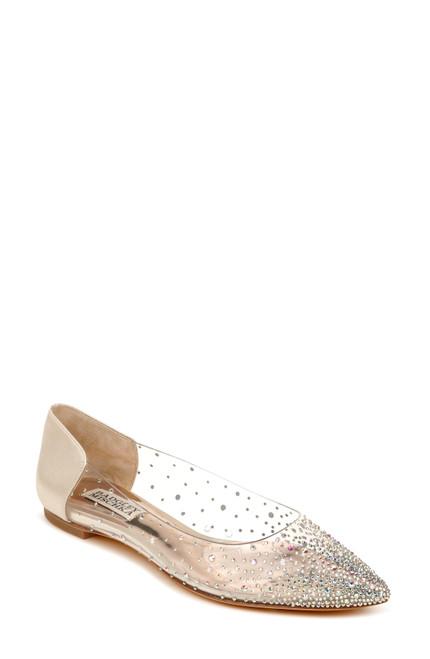Ivory Gabi Crystal Embellished Pointed Flat