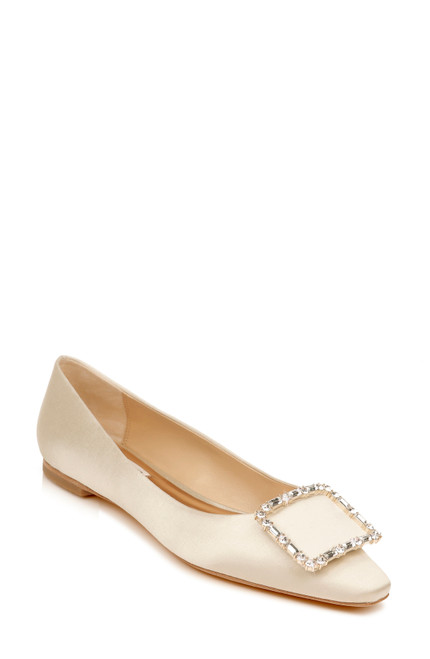 Ivory Dyanne Square Toe Flat Front