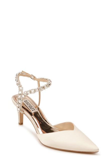 Ivory Galaxy Crystal Embellished Evening Shoe Front