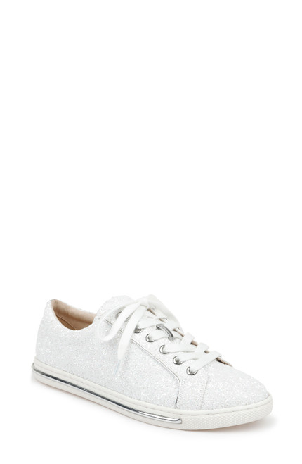 White Jubilee Lace Up Sneaker Front