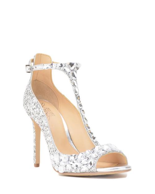 Silver Conroy Metallic Glitter Evening Shoe