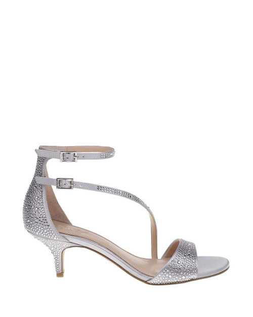 Silver Tangerine Strappy Evening Shoe Side