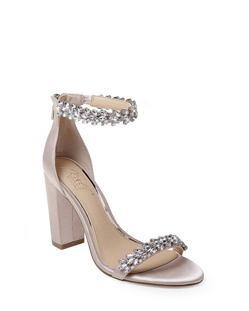 Champagne Mayra Ankle Strap Evening Shoe Front