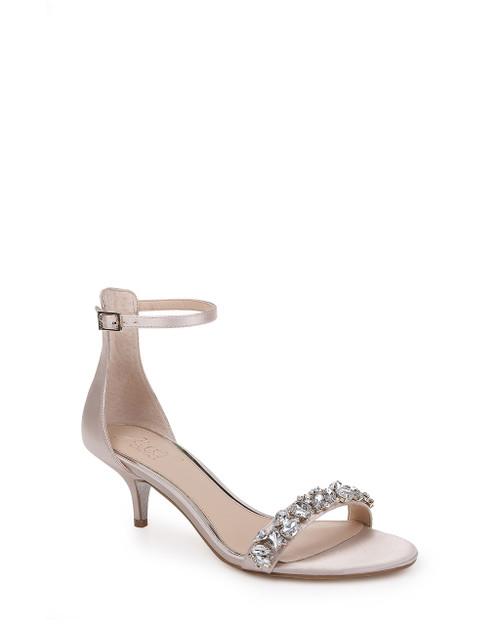 Champagne Dash Ankle Strap Kitten Heel Front