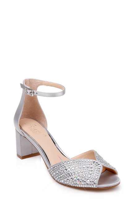 Silver Sycamore Embellished Evening Shoe Front