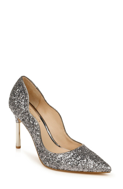 Pewter Glitter Riley II Pointed Toe Pump