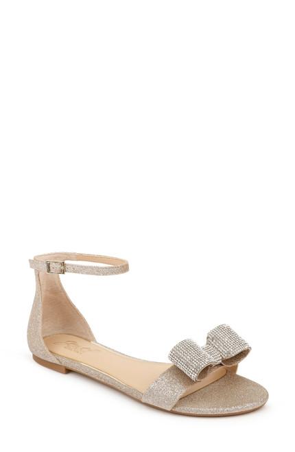Light Gold Una Ankle Strap Sandal Front
