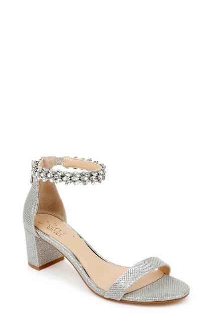 Silver Bradley Embellished Evening Shoe Front
