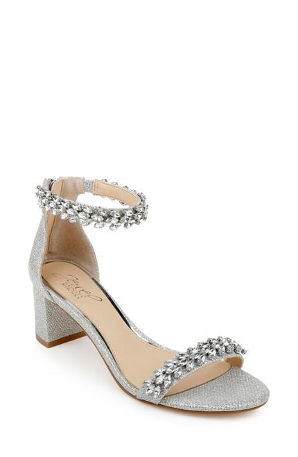 Silver Bronwen Embellished Evening Shoe Front