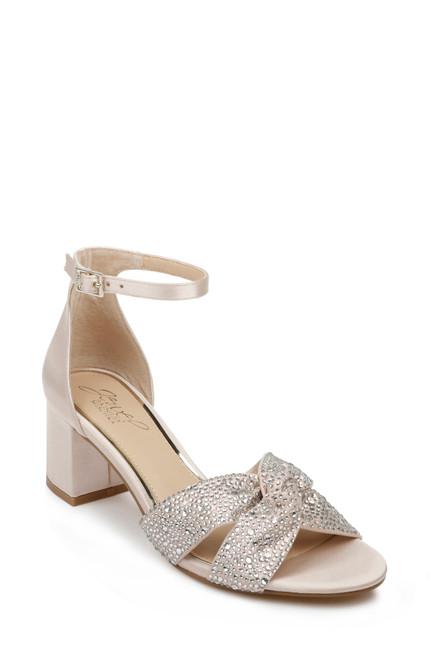 Champagne Nicolette Ankle Strap Block Heel Front