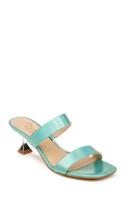 Mint Iridescent Fabiola Iridescent Double Strap Heel Front