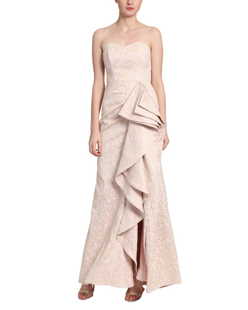 Pink Strapless evening gown front