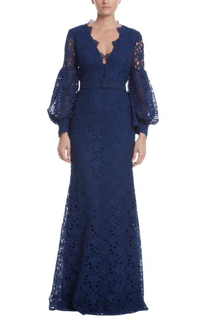 Midnight l/S Lace Blouson Gown Front