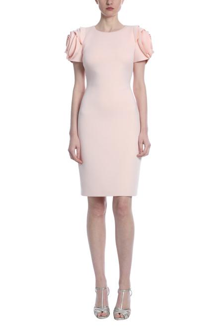 Rosette Rose Sleeve Dress Front