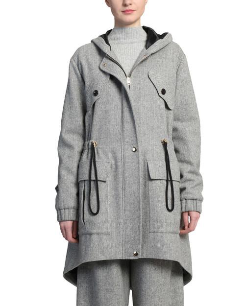 Grey Multi Utilitarian Coat front