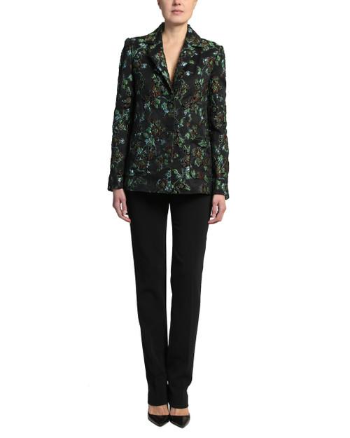 Emerald Multi Jacquard Coat front