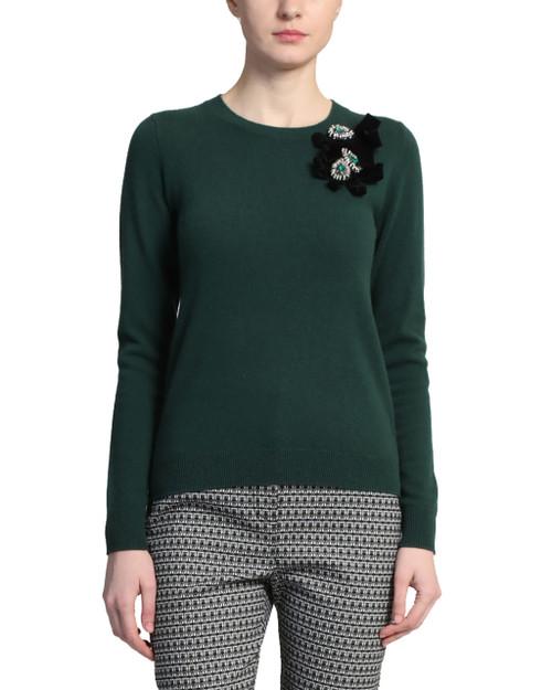 Emerald Emerald Embellished Sweater front