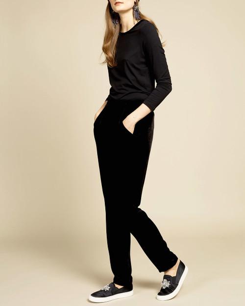 Black Velvet Skinny Pant