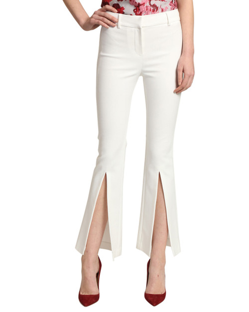 White Pant with Front Slit front