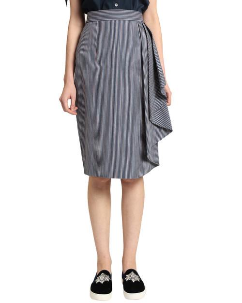 Navy Multi Stripe Skirt front