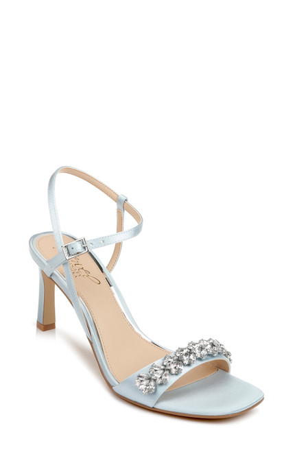 Sky Blue Patsy Strappy Crystal Embellished Heel Front