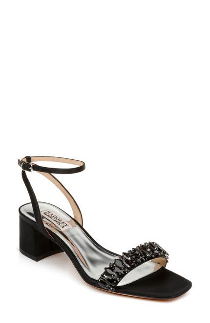 Black Harlow Ankle Strap Block Heel