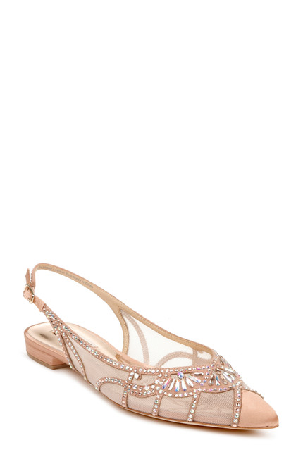 Sunkissed Nude Hanna Flat Sling Back Front