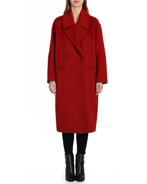 Rust Cameron Double Double Breasted Wool Coat front