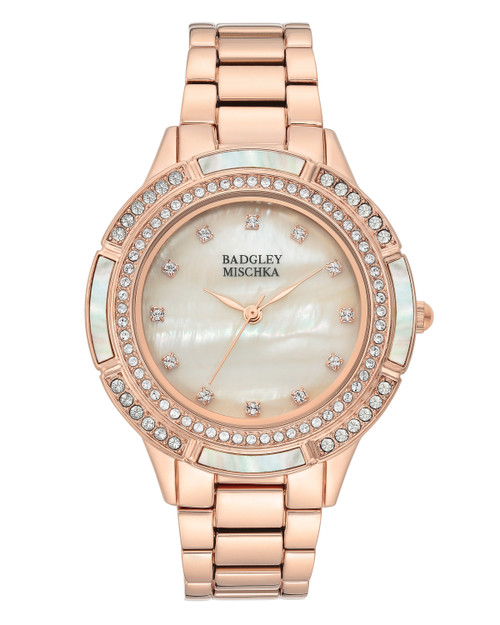 Rose Gold Rose Gold Pearl Face Watch Front