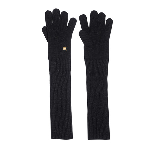 Black Onyx Long Knit Glove