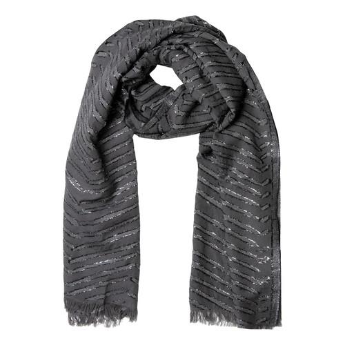 Charcoal Metallic Herringbone Wrap