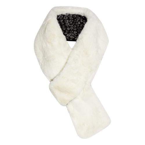 Ivory Faux Fur Pullthru Scarf