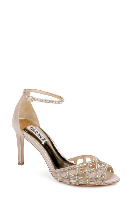 Nude Rain Crystal-Adorned Stiletto - Front angle