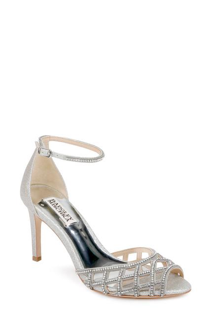 Silver Rain II Crystal-Adorned Stiletto - Front angle