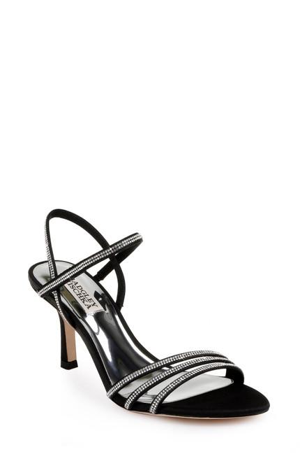 Black Dessa Stiletto Heel - Front angle