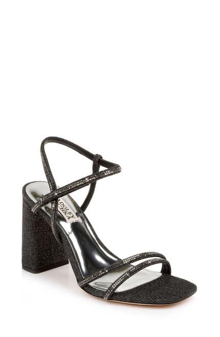 Black Rebekah Block Heel - Front angle