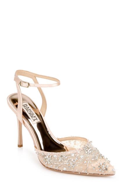Seashell Roe Bridal Stiletto - Front angle