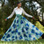 Blue Multi Lace And Printed Mikado Shirt Gown Alt Image