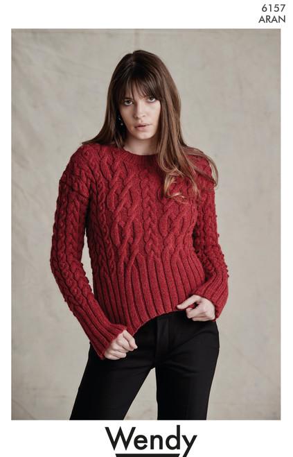 Wendy: Crop Sweater Aran