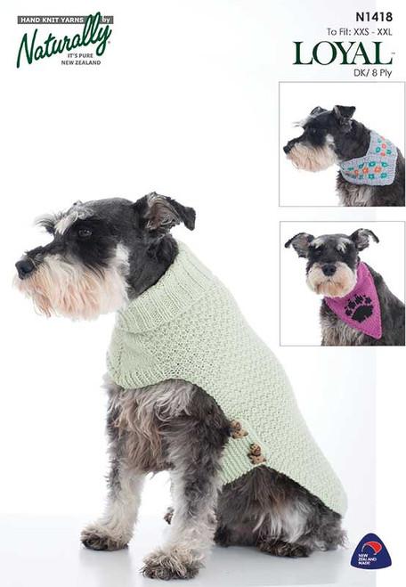 Naturally Loyal:  Dog jacket and Bandanna