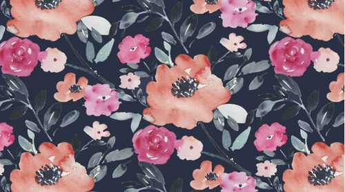 Printed Cottons: Artistic Garden - Dark