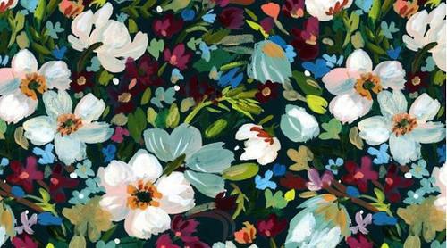 Printed Cotton: Woodland Fairy Dark