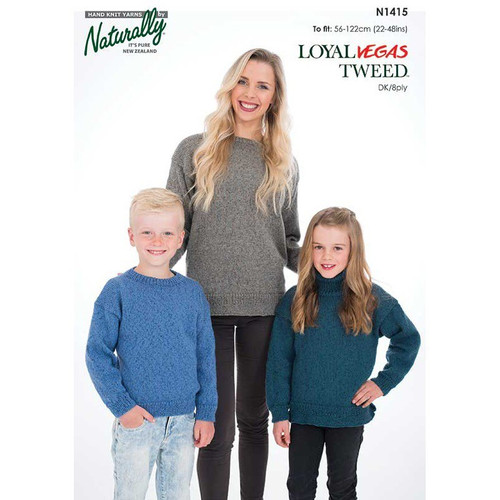 Naturally: Family Sweater Vegas Tweed