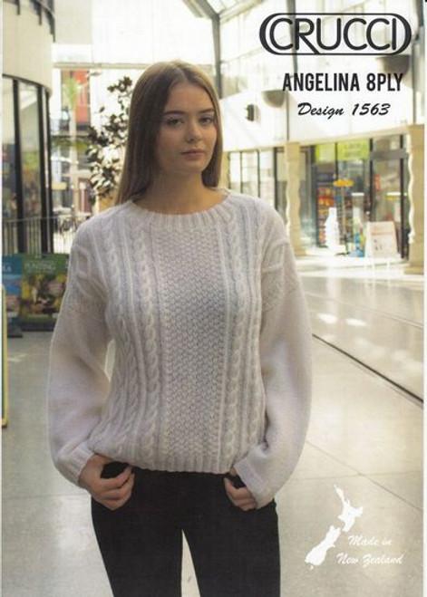 Crucci: Aran Sweater Design 1563