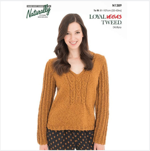 Naturally: V-neck & Cable Sweater